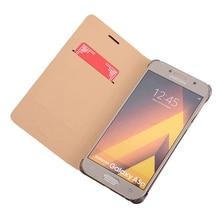 FDCWTS Flip Cover cuero funda para Samsung Galaxy A5 2016 A510M A510 A510F A510H A510G teléfono caso teléfono Delgado cartera bolsa tarjeta