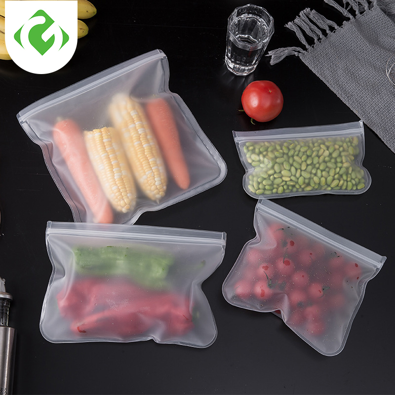 Silicone Food Storage Containers Leakproof Containers Reusable Stand Up Zip Shut Bag Cup Fresh Bag Food Storage Bag GUANYAO