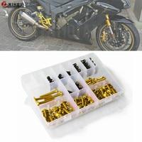 Universal Aluminum Motorcycle accessories Fairing Bolt Screw Fastener Fixation For Honda CBR1000RR FIREBLADE VFR750 VTX1300 r6 3