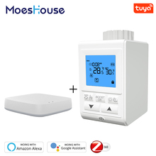 Smart TRV Thermostatic Radiator Valve Controller Zigbee Thermostat Heater Temperature Voice Control Works with Alexa Google Home