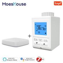 Умный термостатический клапан термостатический клапан контроллер ZigBee температуры подогревателя термостата голосовое управление работает с Alexa и Google дома