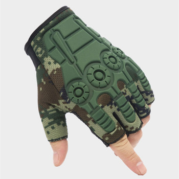 Outdoor Army Combat Half Finger rękawiczki bez palców rękawice motocyklowe taktyczna wojskowa polowanie na rowerze rekawiczki tanie i dobre opinie ZAIQING NYLON Mikrofibra Wiskoza Dla dorosłych Patchwork Nadgarstek Moda ST893 fingerless gloves winter gloves Tactical Gloves
