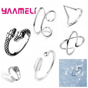 Big Promotion S925 Snake Head Ring Genuine 925 Sterling Silver Adjustable Trendy Fine Jewelry for Men Women Unisex Bague Bijoux