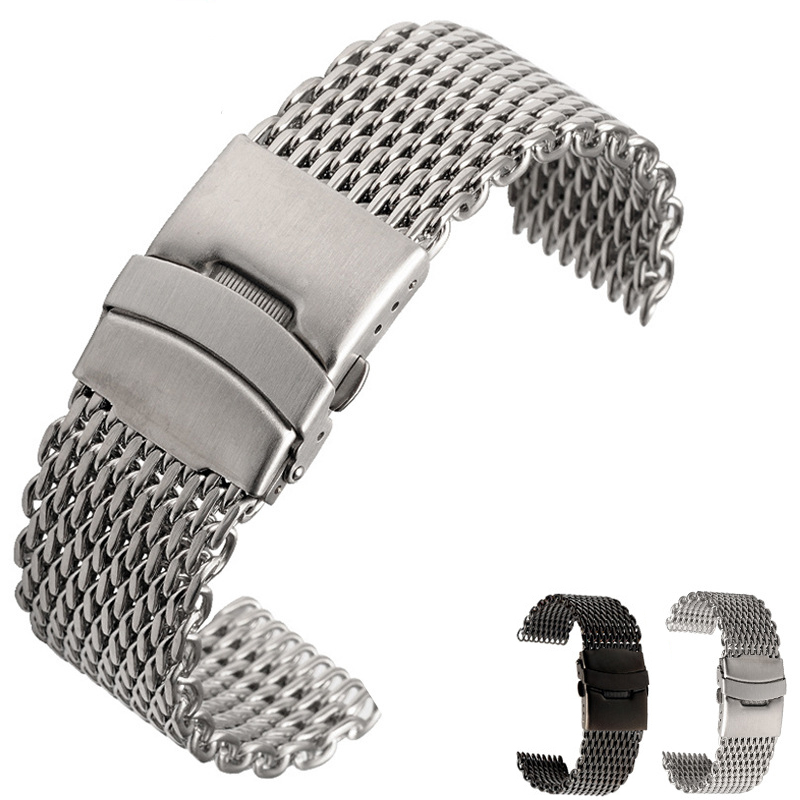 Milanese Shark Mesh Wristband For B-reitling S-eiko OMG Watchband18mm 20mm 22mm 24mm Stainless Steel Watch Band Strap Bracelet
