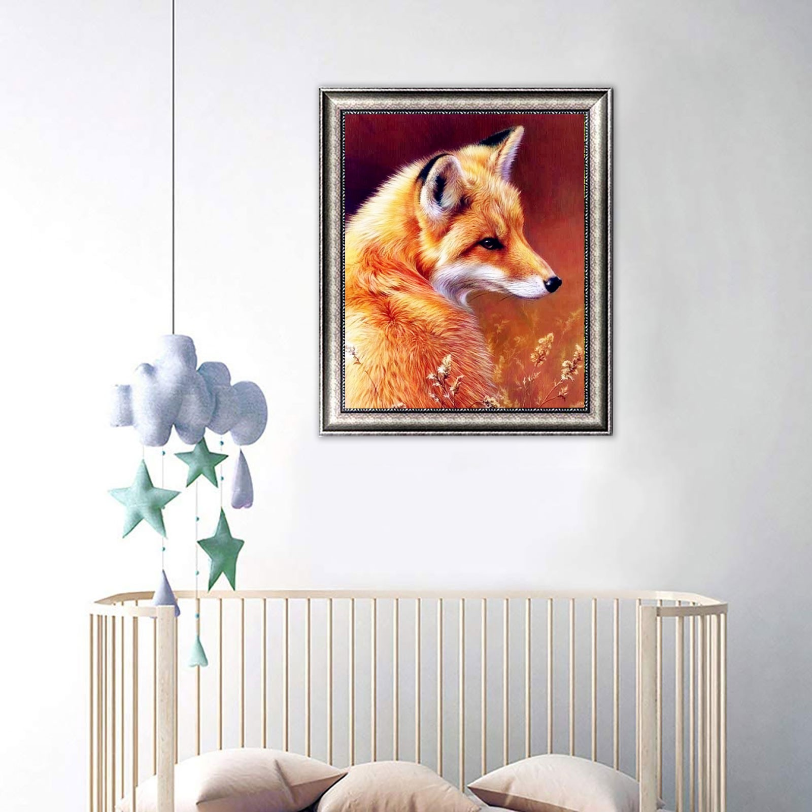 Full Diamond Embroidery Fox Diamond Painting Animal Full Drill Square Diamond Picture Puzzle 5d 2021 Hot Gift Dropshipping D7