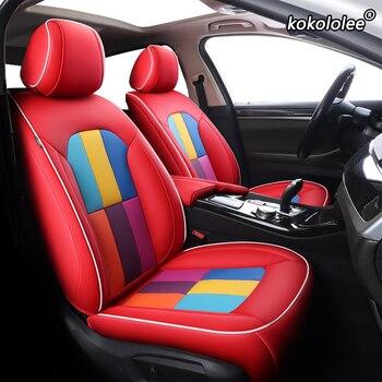 kokololee Custom Leather car seat cover For NISSAN Patrol Sunny QUEST Terra Navara NV200 Paladin KICKS MAXIMA Murano LANNIA seat