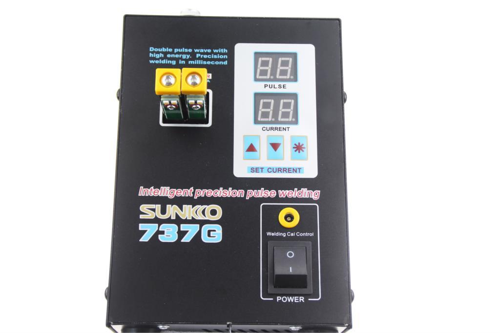 Tools : SUNKKO 737G Spot welder LED Dual Digital Display with welding needles double pulse Welding Machine for 18650 battery