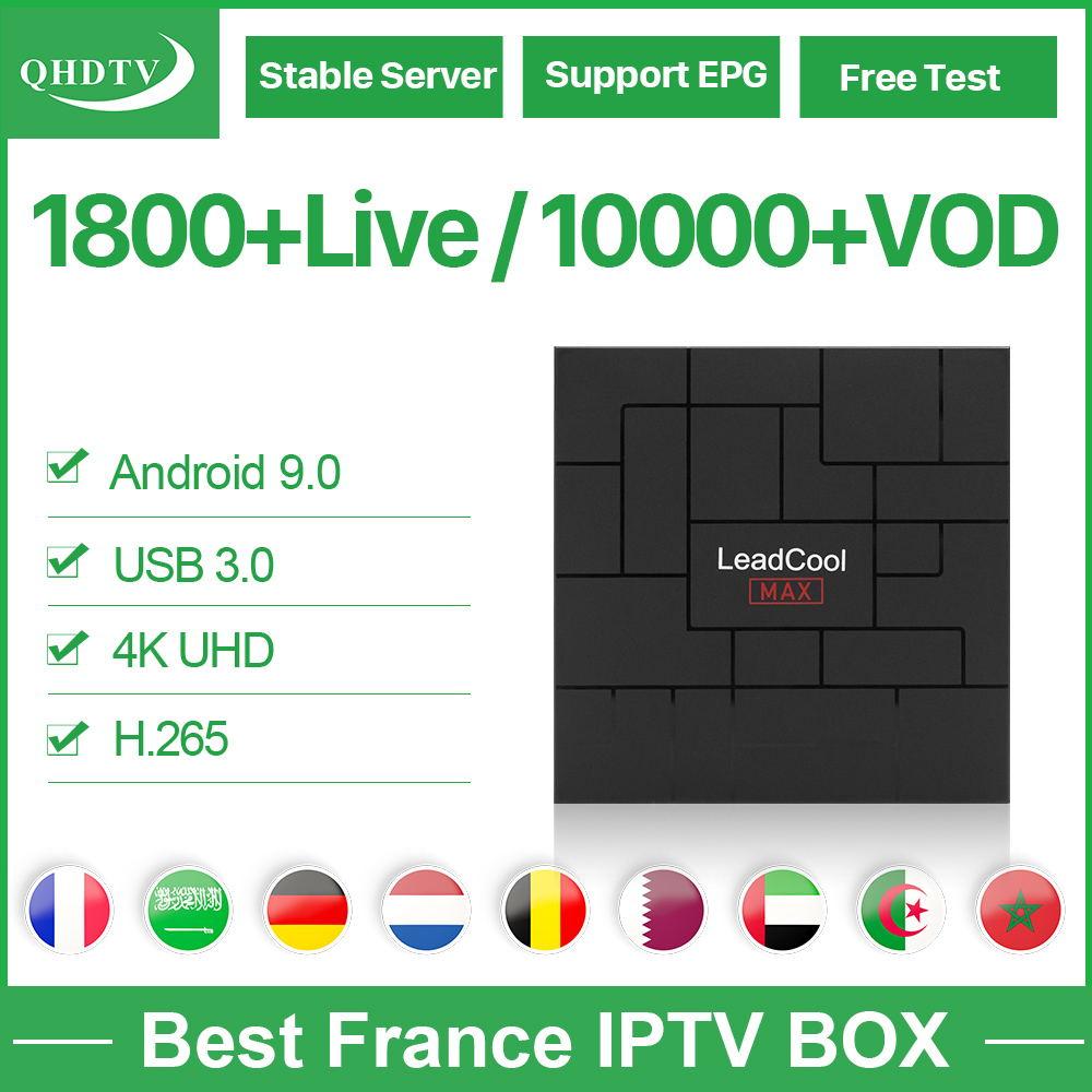 QHDTV IPTV Subscription French Arabic Belgium IPTV Netherlands Germany Box Android 9.0 2.4G WIFI IPTV Algeria Dutch Morocco