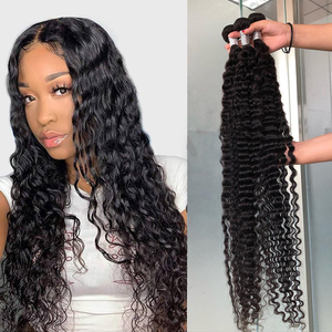 Волнистые пряди, 30 дюймов, человеческие волосы, пряди, бразильские, глубокие, вьющиеся, волнистые волосы для наращивания, для черных женщин, ...