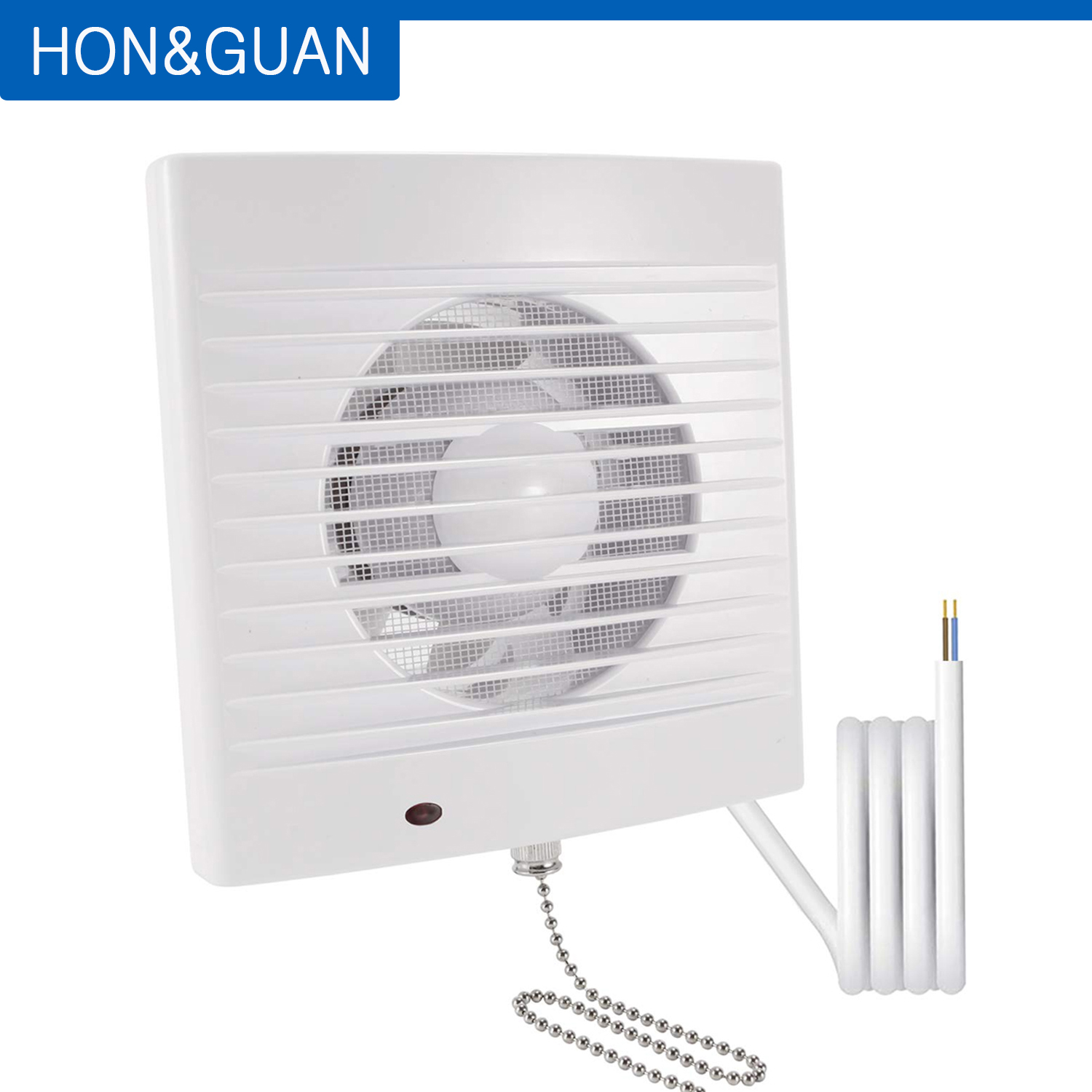 Hon&Guan 14W Silence Ventilating Pull Cord Bathroom Extractor Fan  Suitable For Wall Or Ceiling Mounting; 4'' 220V Exhaust Fans