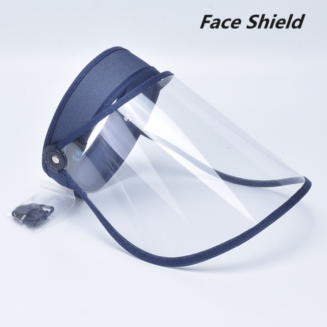 Protective Full Face Shield Hat Men Women Foldable Clear Facial Mask Anti Spitting Saliva Drool Dustproof Cover Cap For Adult