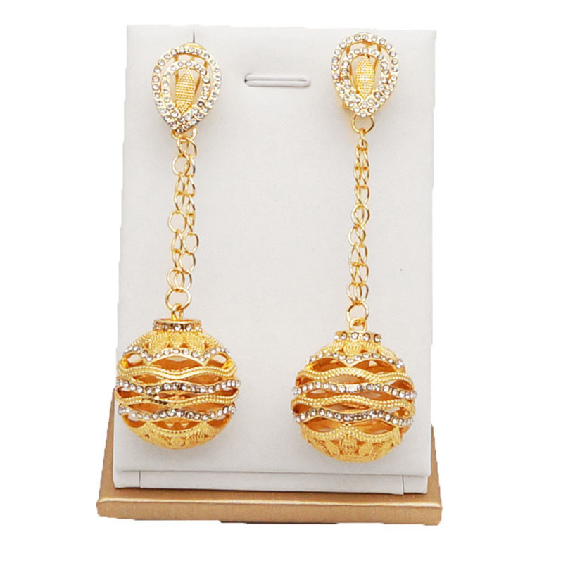 gold jewelry sets with stone party jewelry set women necklace bridal jewelry sets stone pendant EARRING SETS