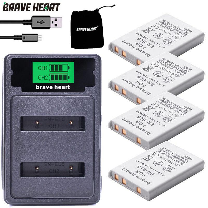 EN-EL5 ENEL5 En El5 Li-ion Rechargeable Battery pack For Nikon Camera Coolpix P80 P90 P100 P500 P510 P520 camera accessories