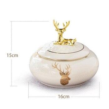 American Ceramic Coffee Table Deer Head Ashtray Creative Personality Trend Fashion Light Luxury Home Living Room Decor M2519