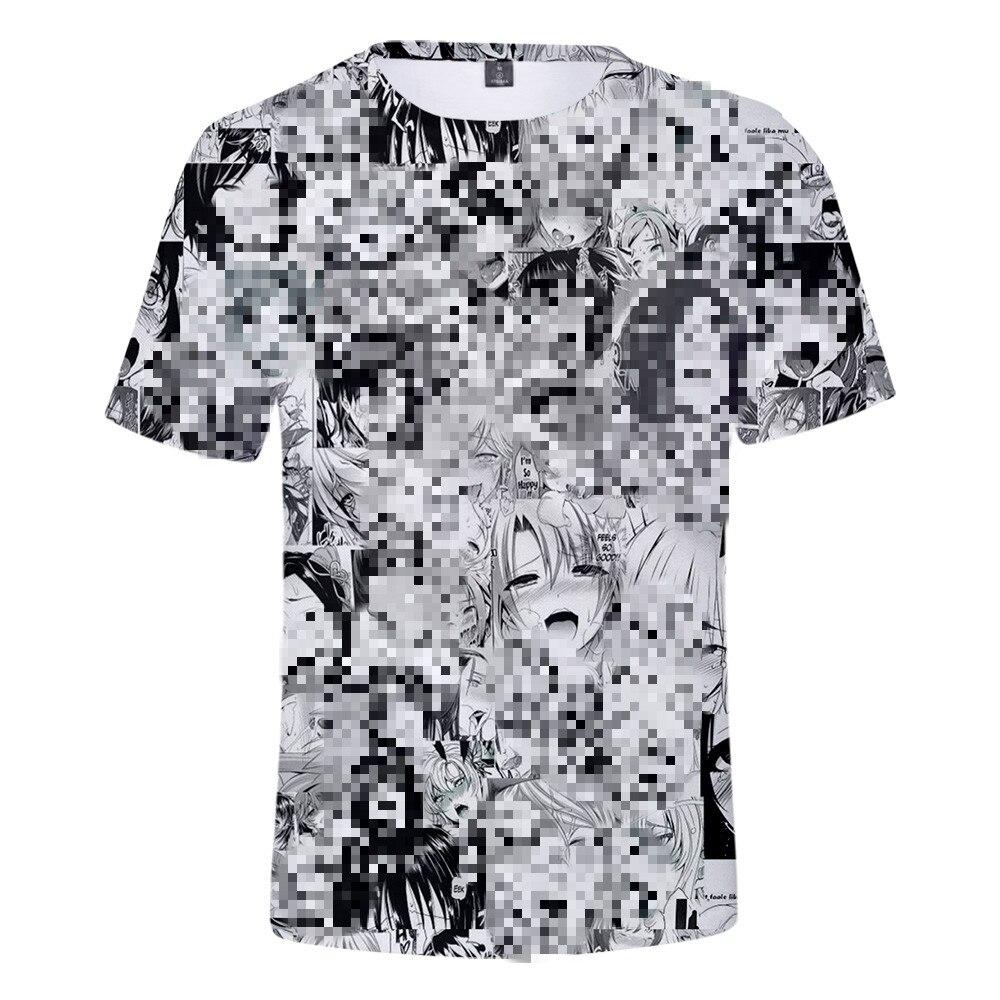 Ahegao 3D t shirt do Verão 2019 anime top T-shirt da forma de manga curta hip hop diversão casual t-shirts de manga curta para homens/Mulheres