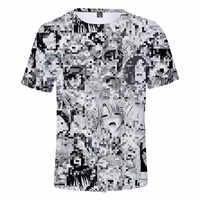 Ahegao 3d t camisa verão 2019 anime topo de manga curta moda camiseta hip hop manga curta diversão casual t-shirts para homem/mulher