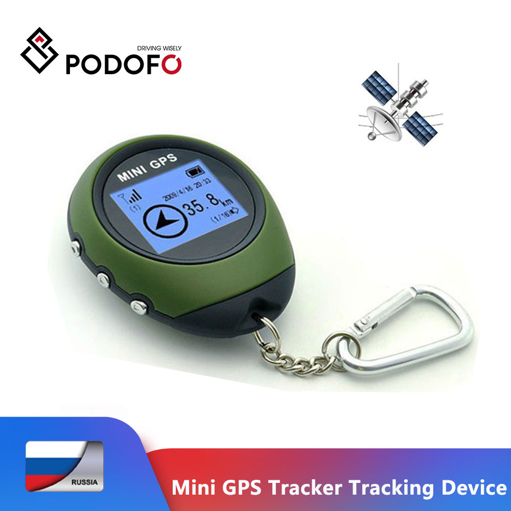 Podofo Mini GPS Tracker Dispositivo de Rastreamento de Satélites Captura de Viagem Portátil Chaveiro Localizador gps Pathfinding Handheld Ao Ar Livre GPS