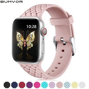 Strap For Apple Watch band 38mm 42mm iWatch 4 band 44mm 40mm Sport Silicone belt Bracelet correa Apple watch 5 4 3 2 Accessories