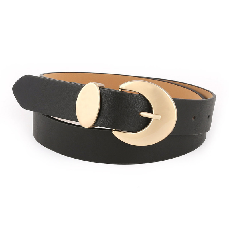 Women's Belts Made Of PU Leather Dress Clothes Leather Silver Buckle Waist Belts For Women Intimate Beautiful Versatile Belts