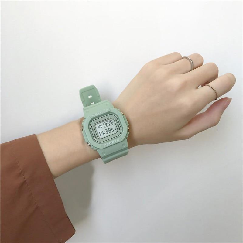 2020 Fashion Women Digital Watch Led Student Watches Electronic Sports Wristwatches Couple Outdoor Clock Relogio Feminino