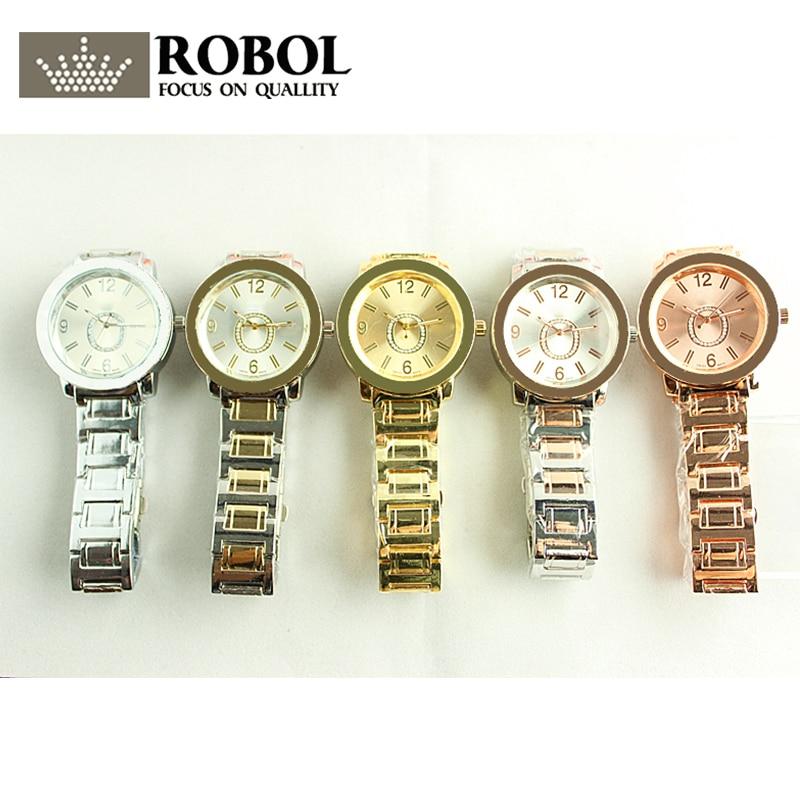 RLLEN Stainless Steel Men Women Couples Quartz Watches Fashion Luxury Jewelry Gift Exquisite Retro Original Copy Jewelry