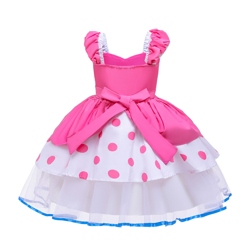 Image 5 - Summer Toy Story 4 Bo Peep Costume Cosplay Girls Dress Halloween Costume For Kids Carnival Party Dress Up ClothingGirls Costumes   -