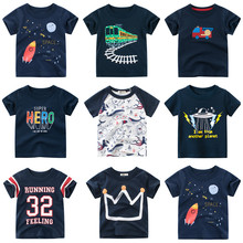 Baby Boys Shirts 2020 New Boys summer T shirts Kids Cartoon T shirt Children t shirts for Boys short sleeve Boys Cotton Shirts cheap childdkivy Casual REGULAR O-Neck Tops Tees Fits true to size take your normal size Unisex TS9935 2-8 Years