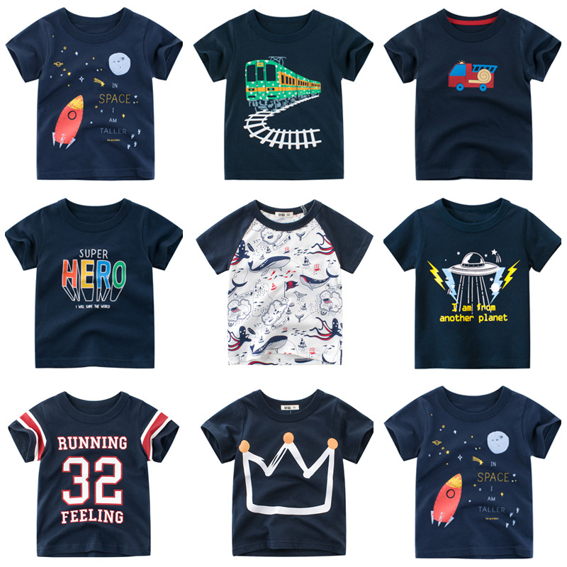 Baby Boys Shirts 2020 New Boys Summer T Shirts Kids Cartoon T Shirt Children T Shirts For Boys Short Sleeve Boys Cotton Shirts