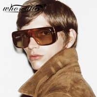 Oversized futurista óculos de sol das mulheres dos homens 2019 design da marca de moda vintage retro leopardo quadro flat top tom óculos de sol s062