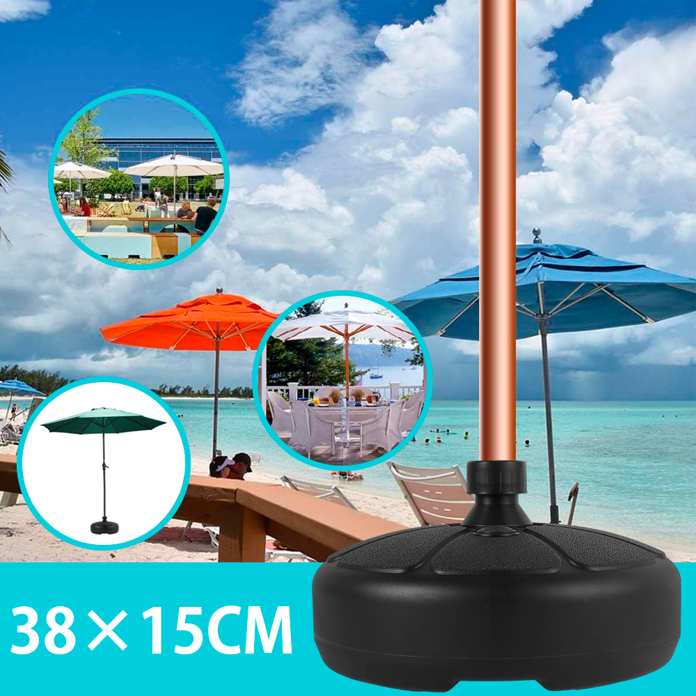 Outdoor Patio Umbrella Base Beach Garden Foldable Parasol Stand Weatherproof Tent Stand Holder Heavy Duty  Awning Hardware
