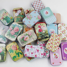 1Pc 9.4*5.8*2cm Colorful mini tin Metal box Sealed jar packing boxes