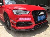 Audi a3 s3 rs 탄소 섬유 프론트 바 프론트 립 윈드 에어 나이프