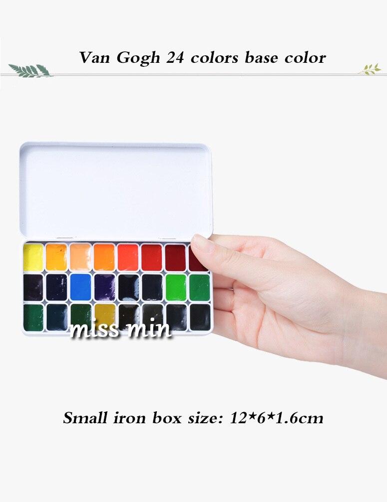 Van gogh 24-cor 40-cor aquarela pigmentos inport