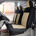Чехлы на автомобильные сиденья AUTOYOUTH, аксессуары для транспортера/фургона, универсальные чехлы из полиэстера, 2 + 1
