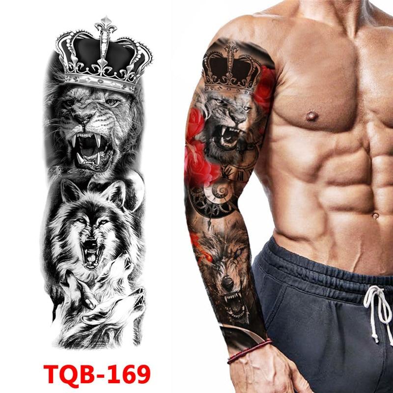 Waterproof Temporary Tattoo Sticker Totem Geometric Full Arm Large Size Sleeve Tatoo Fake tatto flash tattoos