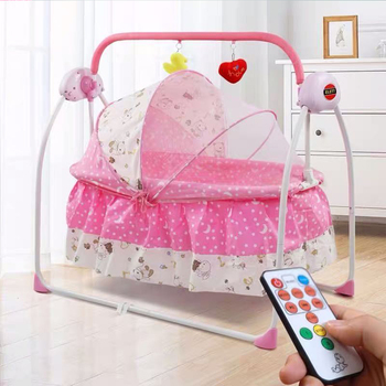 For Newborns Bed Baby Electric Swing Newborn Bed Smart Cradle Children's Rocking Chair Bed Full Sets Cradle electrical baby cradle rocking chair folding baby bed cradle baby rocking newborn crib musical chair plastic toys moonlight star