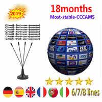 Special for Slovakia Europe HD 1 Year CCCam Spain Portugal Germany Poland Satellite tv Receiver 7Clines For DVB-S2 v7s V8 V9 BOX