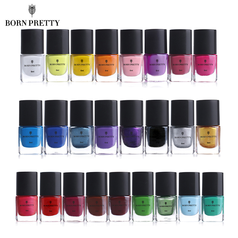 BORN PRETTY Nail Stamping Polish 6ml Colorful Printing Varnish Varnish For Nail Art Stamping Plate Stencil Oil