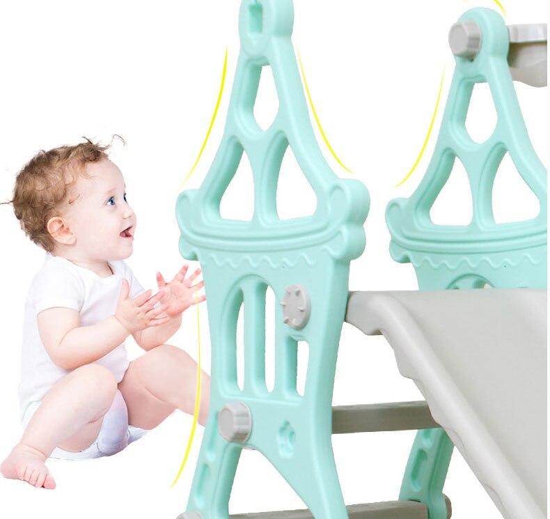 H8570013190d94a0eb9a9dbeb7834ac2a3 3 in 1 Baby Slides And Swing Chair Basketball Story Home Kids Playground Plastic Slides Set Toy Indoor Family Kindergarten