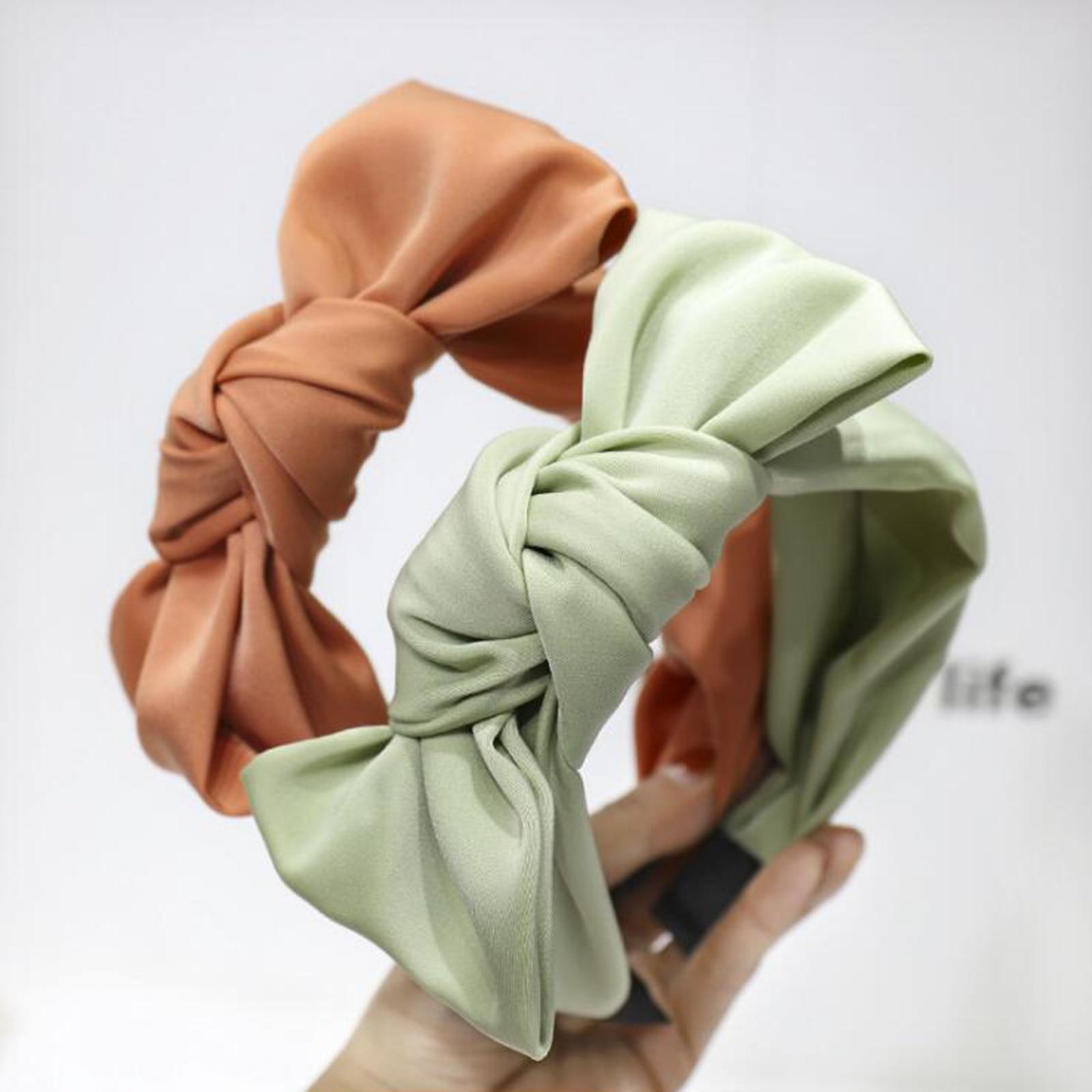 New Top Quality Women Hairband Big Bow Knot Headband Soft Elegant Turban Solid Hair Band Girls Fresh Hair Accessories