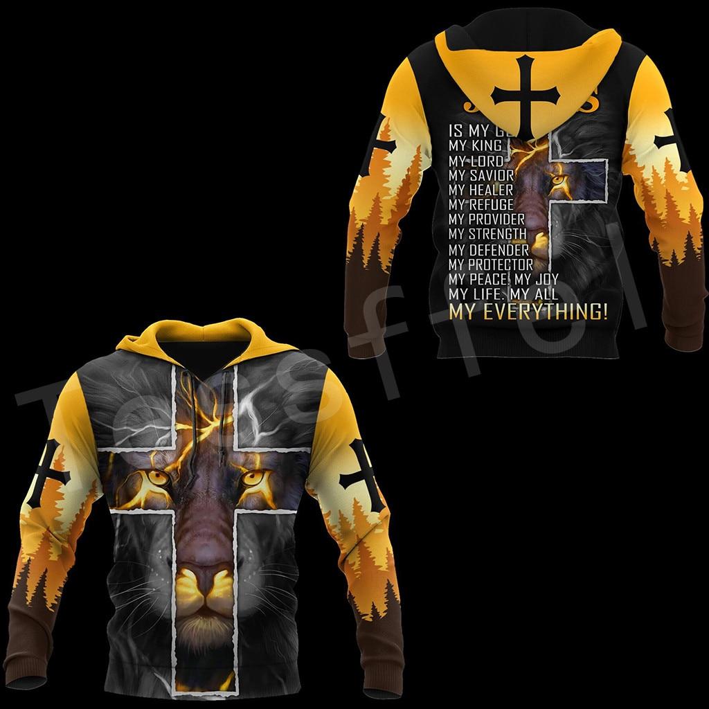 Tessffel Newest Knight Templar Jesus God Guard Cavalier Pullover Streetwear NewFashion 3DPrint Zip/Hoodies/Sweatshirts/Jacket 24
