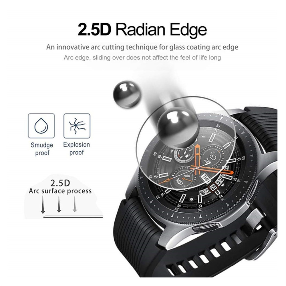 Gear S3 Frontier For Samsung Galaxy Watch 46mm 42mm Gear Sport Band S2 Classic Screen Protector 9H 2.5D S 3 Tempered Glass