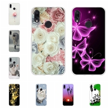 For Xiaomi Redmi 3 3s Case Soft TPU Silicone Note 4 4X 7 Pro Cover Flowers Patterned Go Coque