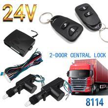 Водонепроницаемый 24V автомобиль грузовик дистанционного Управление Центральный замок противоугонное устройство 8114 2-дверный 2-кнопочный для большие повозки большими грузовыми автомобилями автобусов