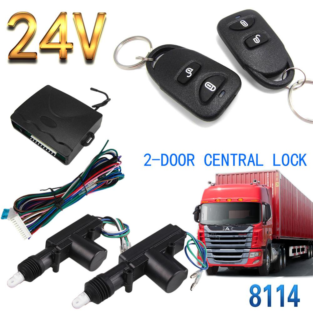 Waterproof 24V Truck Remote Control Central Locking Anti-theft Device 8114 2-door 2-button For Large Carts Large Trucks Buses