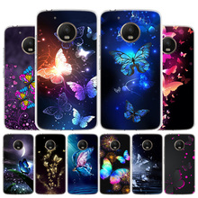 Butterfly Dancing Girl Effect Phone Case For Motorola Moto G8 G7 G6 G5S G5 G4 E6 E5 E4 Plus Play Power One Action X4 Cover Coque leather filp case for motorola moto g7 power play e6 lanyard rhinestone card wallet phone cover coque for google pixel 4 xl case