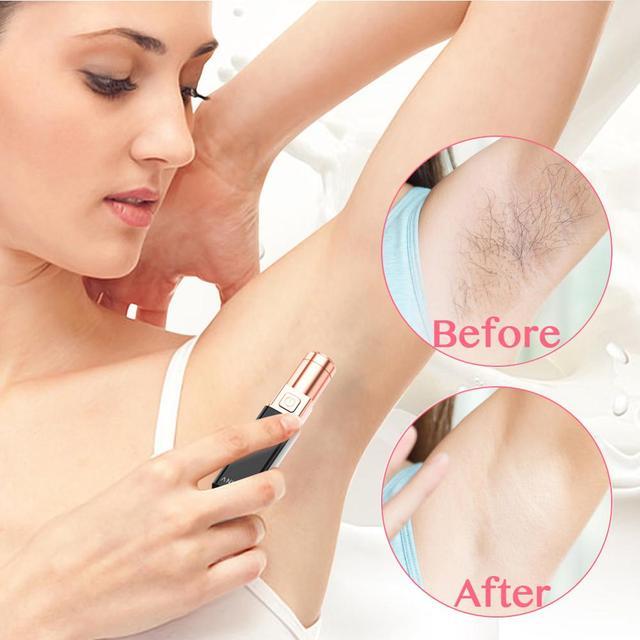 Electric Epilator Women Painless Hair Removal Female Upper Lip Cheeks Shaver Face Hair Remover Bikini Shaver Lipstick Style 3