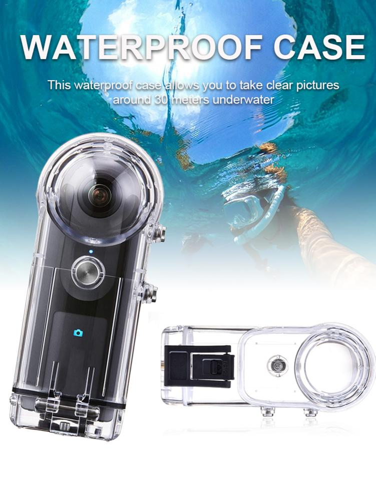 Boîtier de caméra de plongée pour Ricoh Theta SThetaV & SC 360 degrés boîtier de caméra panoramique pour la plongée, le surf, la plongée, la natation - 3