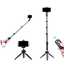 цена на Yunteng 1288 Phone Gopro Hero4/3/2 SJCAM Camera Selfie Stick Bluetooth Self-portrait Monopod Self-Timer Pole For Iphone Samsung