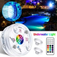 New RF Remote 13 LED RGB Submersible Light 16 Colors Underwater Lights Swimming Pool Decorative Lights With Magnet & Suction Cup